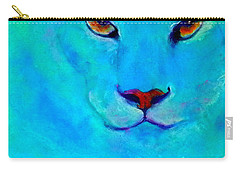 Funky Snow Leopard Turquoise Carry-all Pouch