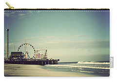 Funtown Pier Seaside Heights New Jersey Vintage Carry-all Pouch by Terry DeLuco