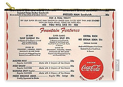 Fw Woolworth Lunch Counter Menu Carry-all Pouch by Thomas Woolworth
