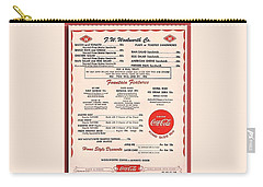 Fw Woolworth Lunch Counter Menu Carry-all Pouch