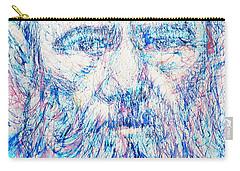Fyodor Dostoyevsky / Colored Pens Portrait Carry-all Pouch by Fabrizio Cassetta