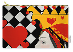 Carry-all Pouch featuring the painting Gabby Queen Of Hearts by Carol Jacobs