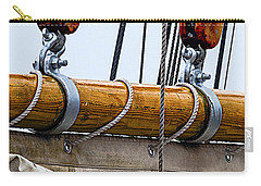 Carry-all Pouch featuring the photograph Gaff And Mainsail by Marty Saccone