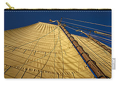 Carry-all Pouch featuring the photograph Gaff Rigged Mainsail by Marty Saccone
