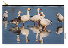 Gaggle Of Snow Geese Reflected Carry-all Pouch