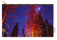 Carry-all Pouch featuring the photograph Galaxy Stars By The Campfire by Jerry Cowart