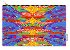 Galaxy Transit Union Ufo Docking Station Fantasy 2050 Art Background Designs  And Color Tones N Colo Carry-all Pouch