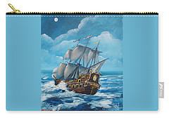 Galleon At Night Carry-all Pouch