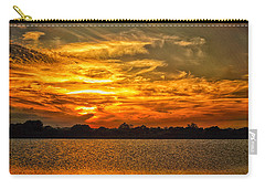 Galveston Island Sunset Dsc02805 Carry-all Pouch