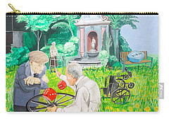 Carry-all Pouch featuring the painting Gambling Grandma  by Lazaro Hurtado