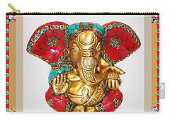 Ganapati Ganesh Idol Hinduism Religion Religious Spiritual Yoga Meditation Deco Navinjoshi  Rights M Carry-all Pouch by Navin Joshi