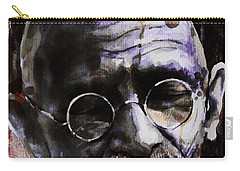 Carry-all Pouch featuring the painting Gandhi by Laur Iduc