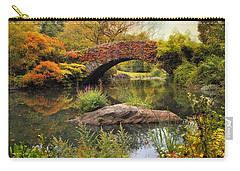 Carry-all Pouch featuring the photograph Gapstow Bridge Serenity by Jessica Jenney