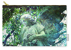 Carry-all Pouch featuring the digital art Garden Angel - Divine Messenger by Absinthe Art By Michelle LeAnn Scott