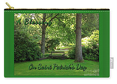 Garden Bench On Saint Patrick's Day Carry-all Pouch