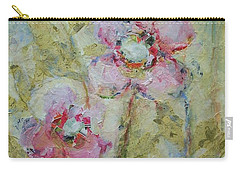 Carry-all Pouch featuring the painting Garden Bliss by Mary Wolf