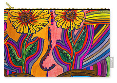 Garden Face - Lotus Pond - Daisy Eyes Carry-all Pouch