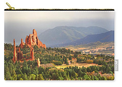 Carry-all Pouch featuring the photograph Garden Of The Gods Cathedral I by Lanita Williams