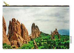 Garden Of The Gods Carry-all Pouch by Michelle Calkins