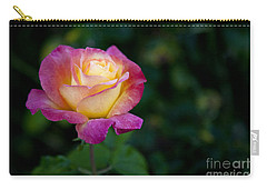 Carry-all Pouch featuring the photograph Garden Tea Rose by David Millenheft