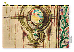 Garden Through The Key Hole Carry-all Pouch by Teresa White