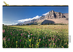 Garden Wall At Dusk Carry-all Pouch by Aaron Aldrich