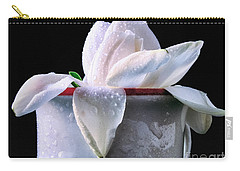 Carry-all Pouch featuring the photograph Gardenia In Coffee Cup by Silvia Ganora