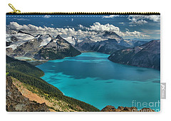 Garibaldi Lake Blues Greens And Mountains Carry-all Pouch by Adam Jewell