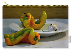 Garlic And Peppers Carry-all Pouch