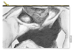 Carry-all Pouch featuring the drawing Garnett 2 by Tamir Barkan