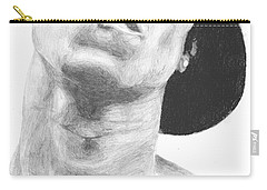 Carry-all Pouch featuring the drawing Garnett 3 by Tamir Barkan