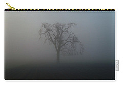 Carry-all Pouch featuring the photograph Garry Oak In Fog by Cheryl Hoyle