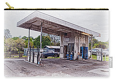 Carry-all Pouch featuring the photograph Gasoline Station by Jim Thompson