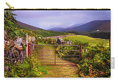 Gates On The Road. Wicklow Hills. Ireland Carry-all Pouch