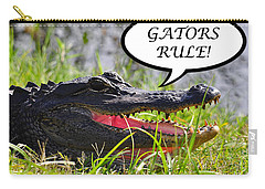 Gators Rule Greeting Card Carry-all Pouch by Al Powell Photography USA