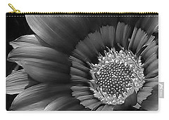 Carry-all Pouch featuring the photograph Gazania In Black And White by Bruce Bley