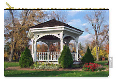 Carry-all Pouch featuring the photograph Gazebo At Olmsted Falls - 1 by Mark Madere