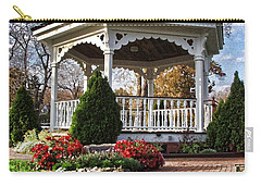 Carry-all Pouch featuring the photograph Gazebo At Olmsted Falls - 3 by Mark Madere