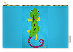 Carry-all Pouch featuring the painting Gecko Gecko by Deborah Boyd