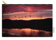 Geese After Sunset Carry-all Pouch