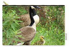 Geese And Gosling Carry-all Pouch