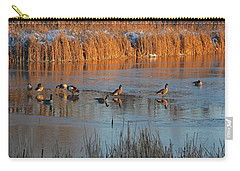Geese In Wetlands Carry-all Pouch