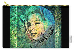 Carry-all Pouch featuring the digital art Gena Rowlands by Absinthe Art By Michelle LeAnn Scott