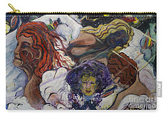 Carry-all Pouch featuring the painting Wind Whisperers  by Avonelle Kelsey