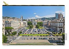Genova - Piazza Della Vittoria Overview Carry-all Pouch by Antonio Scarpi