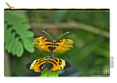 Carry-all Pouch featuring the photograph Gentle Butterfly Courtship 03 by Thomas Woolworth