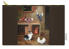 Carry-all Pouch featuring the painting Gentle Creatures by Hazel Holland