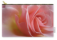 Gentle Pink Rose Carry-all Pouch