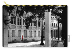 Carry-all Pouch featuring the photograph Gentle Warrior On Strand Street by EDi by Darlene