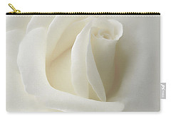 Gentle White Rose Flower Carry-all Pouch